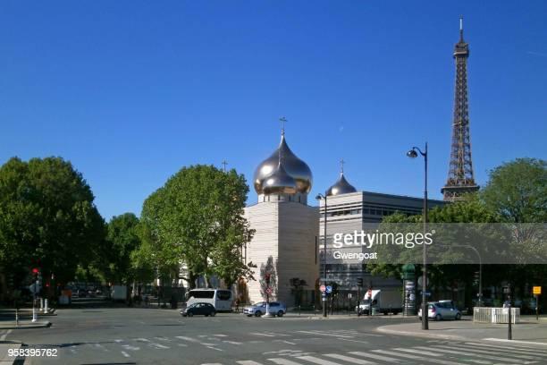 kathedraal van de heilige drievuldigheid in parijs - gwengoat stockfoto's en -beelden