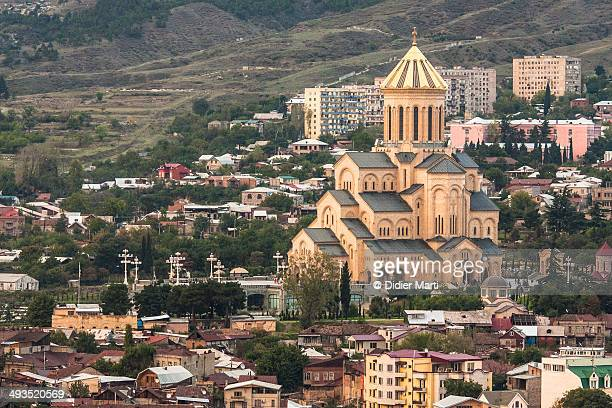 holy trinity cathedral of tbilisi - didier marti stock photos and pictures