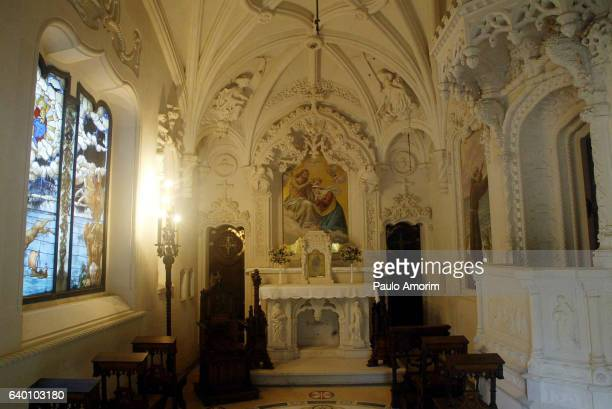 holy trinity chapel in portugal - quinta da regaleira photos stock pictures, royalty-free photos & images