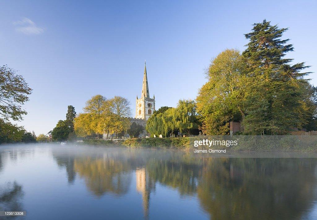 Holy Trinity Church, Burial Place of William Shakespeare, Stratford upon Avon, Warwickshire, England : Stock Photo