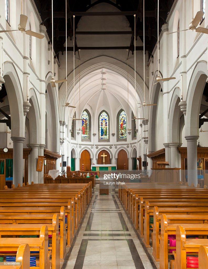 Holy Trinity Church, Yangon, Myanmar : Stock Photo