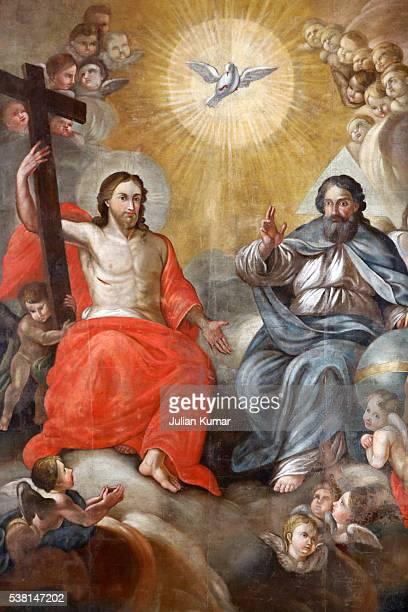 Holy Trinity painting in Santa Croce church (by G. Grafsi)