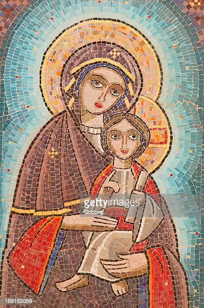 Holy Virgin and Saint John Kamate coptic monastery icon