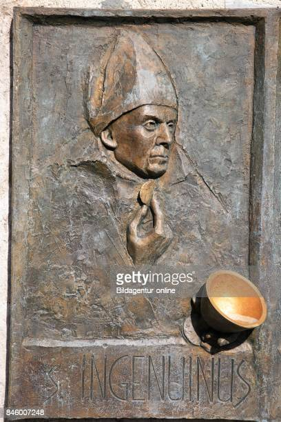 Holy Water Cauldron. Saeben Abbey. Kloster Saeben. Monastero di Sabiona is a Benedictine Nunnery Located near Klausen In South Tyrol. Italy.