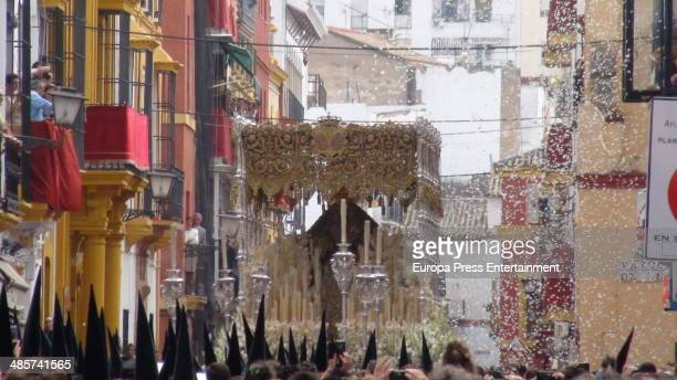 Holy Week celebration on April 17 2014 in Malaga Spain