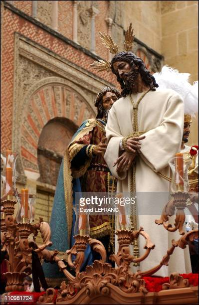 Holy week in Cordoba a city of tolerance where Muslims Catholics and Jews long live in perfect harmony in Spain in April 2003
