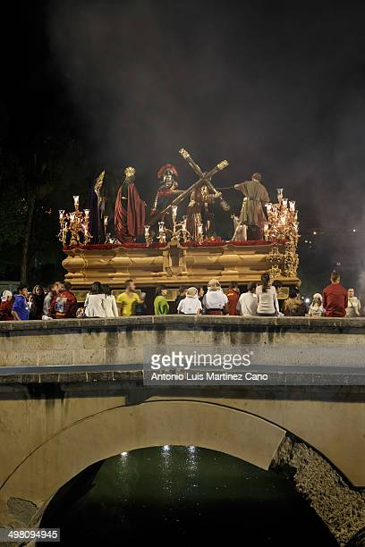 CONTENT] Holy Week in Granada Easter Monday Brotherhood of the Holy Christ of Labor and Our Lady of Light passing through the Puente Romano