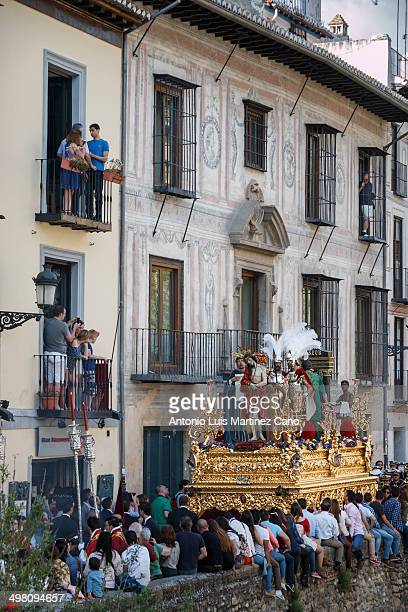 CONTENT] Holy Week in Granada Palm Sunday Brotherhood of the Judgment of Jesus and the Virgin of Wonderland as it passes through the Carrera del...