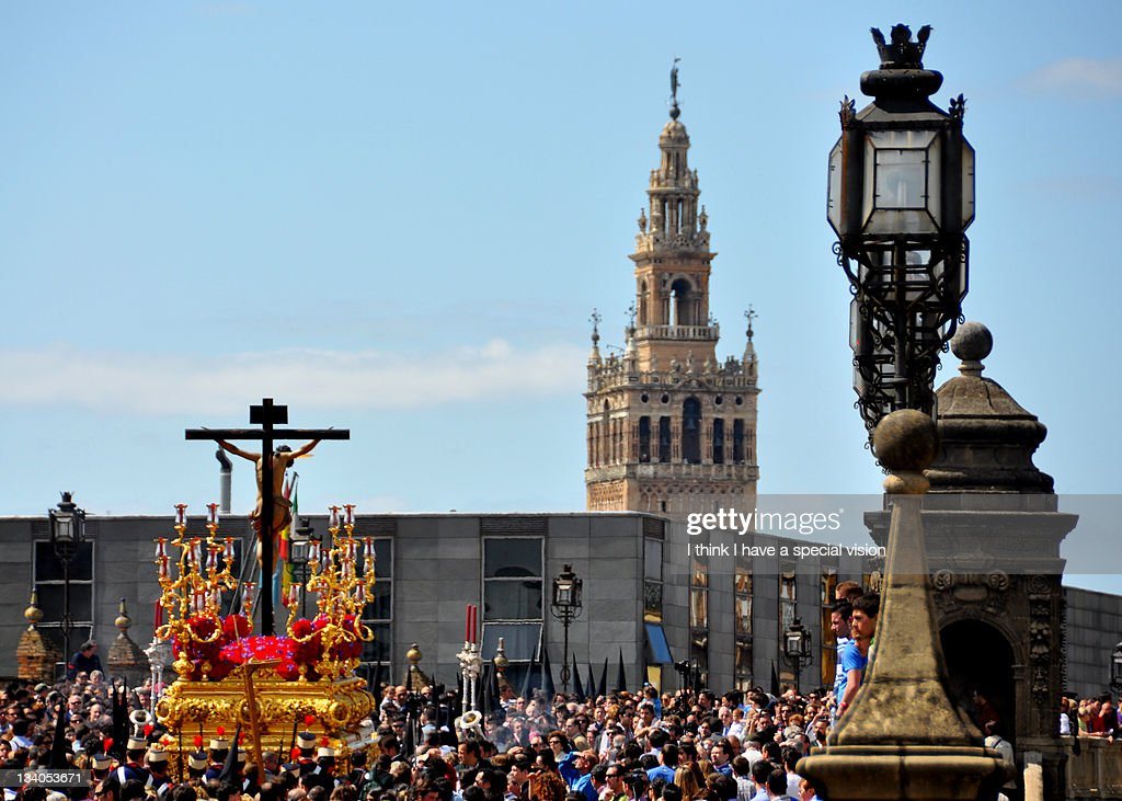 Holy Week in Seville : Stock Photo