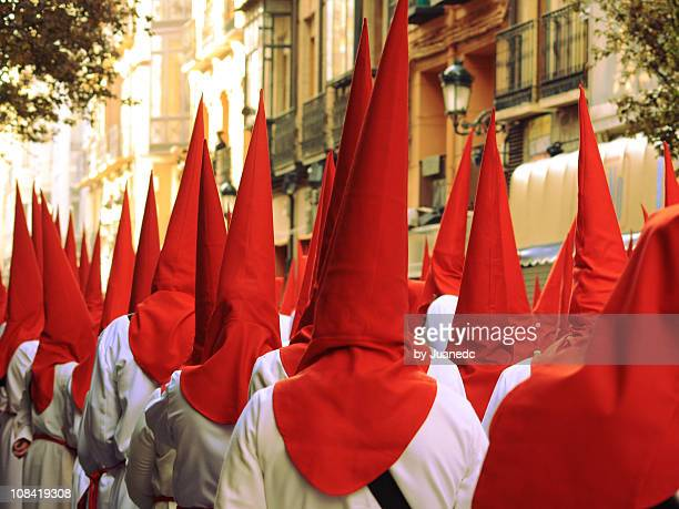 holy week in zaragoza - holy week stock pictures, royalty-free photos & images