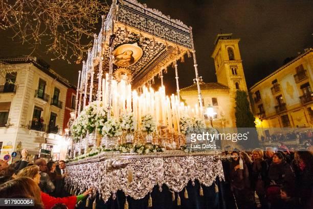 Holy Week procession at night