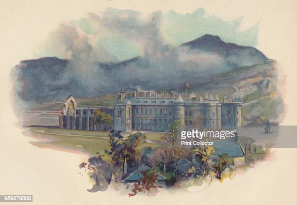 Holyrood Palace' circa 1890 After a photograph by Poulton Son From Cassell's History of England by John Cassell [A W Cowan Cassell Company Limited...