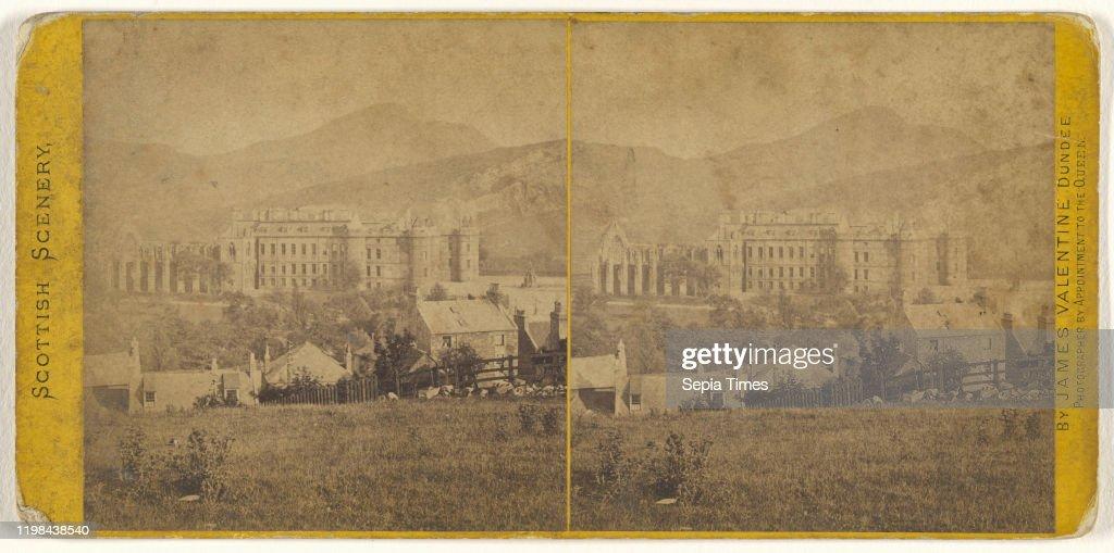 Holyrood Palace from Calton Hill, Edinburgh. : News Photo