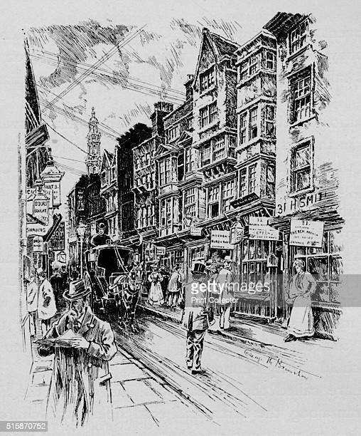 Holywell Street Westminster London circa 1890 Holywell Street once ran parallel with the Strand It was demolished when the Strand was widened in 1900...