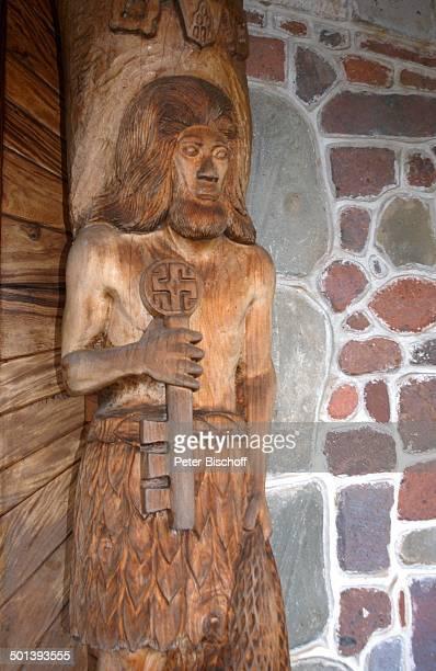 Holzskulptur in Kirche Nuku¿Hiva MarquesasInseln Südsee Reise BB DIG PNr 167/2005