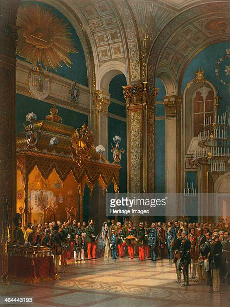 Homage of Cossack officers in the Throne Hall coronation of Tsar Alexander II Moscow 1856 The coronation of Emperor Alexander II and Empress Maria...