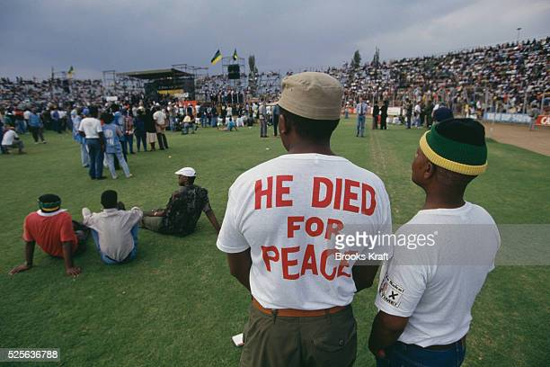 Homage to Chris Hani leader of the South African Communist Party and chief of staff of Umkhonto we Sizwe the armed wing of the African National...
