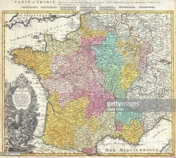 1741 Homann Heirs Map of France