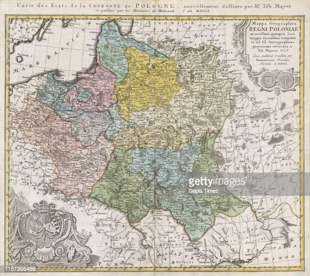 1750 Homann Heirs Map of Poland