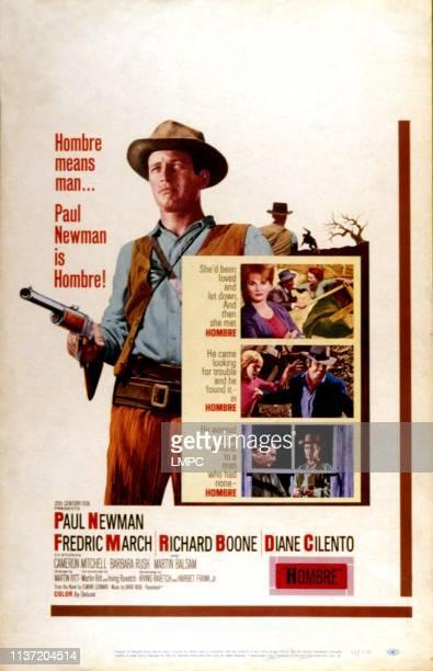 Hombre poster Paul Newman Diane Cilento poster art 1967