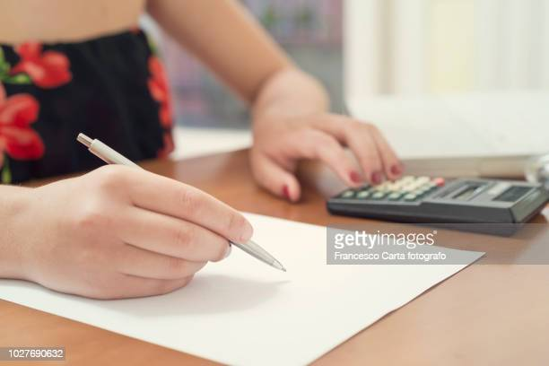 home accounting - tempio pausania stock pictures, royalty-free photos & images