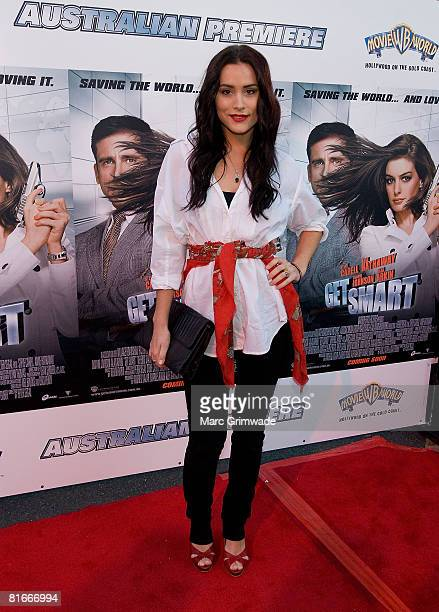 Home and Away actor Natalie Blair attends the Australian premiere of 'Get Smart' at Movie World on July 22 2008 in the Gold Coast Australia