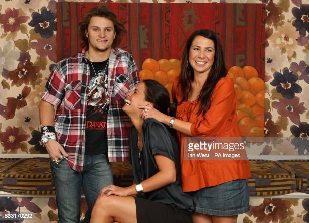 Home and Away cast members Mark Furze , Jodi Gordon , and Kate Ritchie during a portrait session at the Charlotte Street Hotel, in central London....