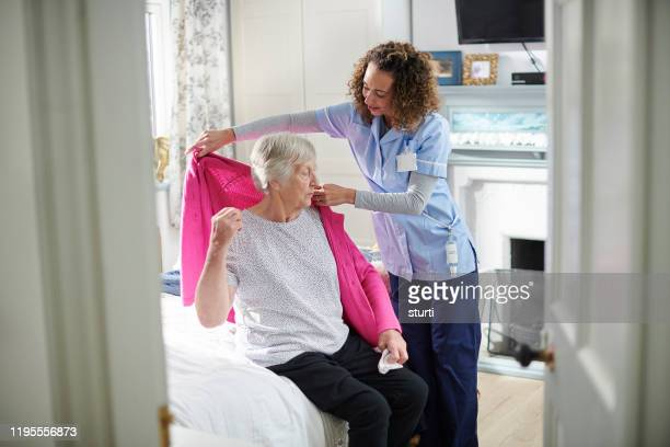 home assistance care - care home stock pictures, royalty-free photos & images