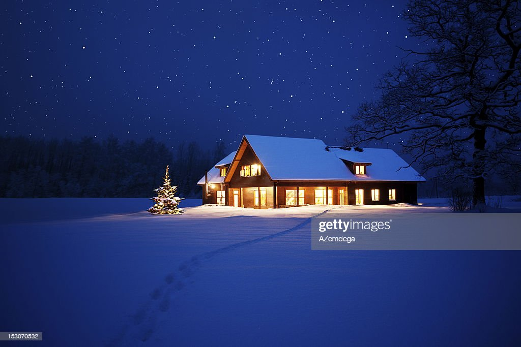 Home at christmas : Stock Photo