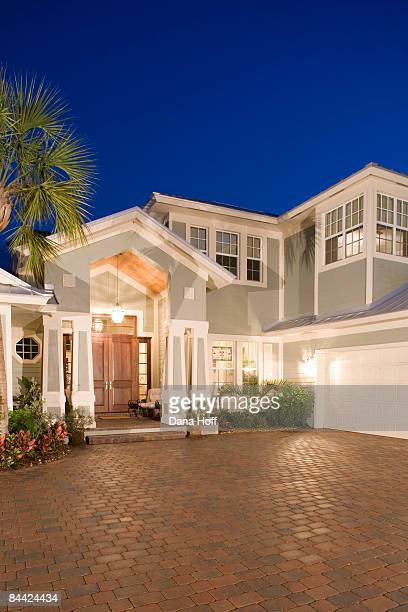 home at dusk - jupiter florida stock pictures, royalty-free photos & images