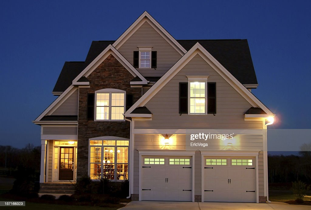 Home at Night : Stock Photo