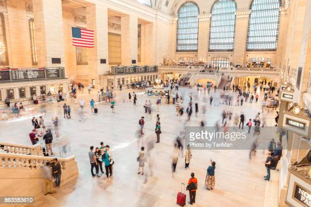 home away from home - grand central station stock photos and pictures