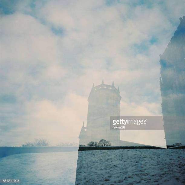 home away from home - english blue film photos stock photos and pictures