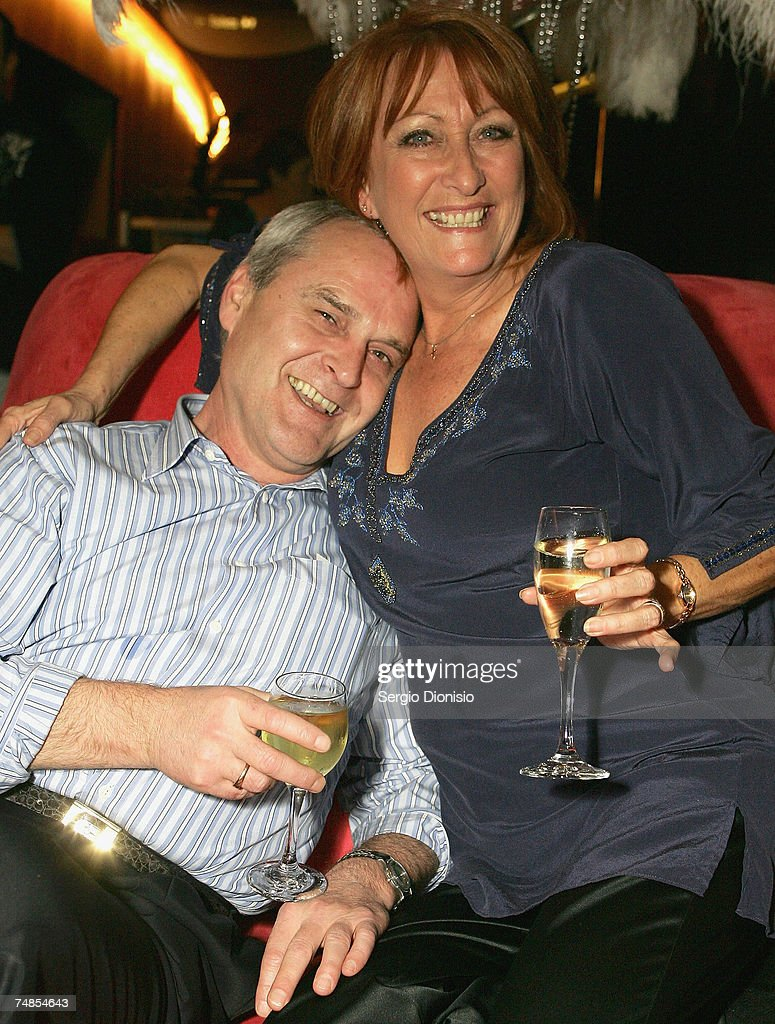 Home & Away star Lynne McGranger and her partner Paul attends Ray