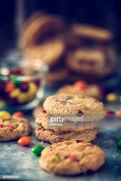 Home Baked Cookies with Chocolate Candies