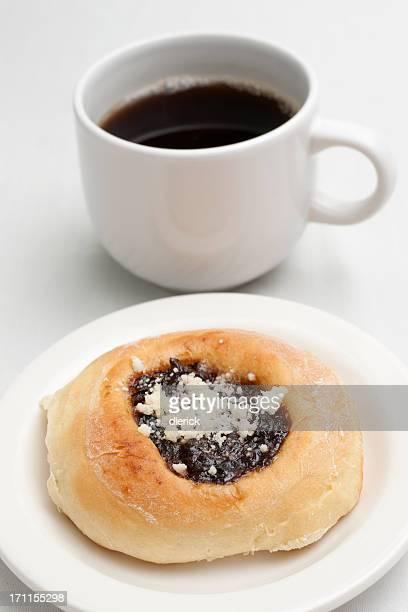 home baked kolachi and coffee