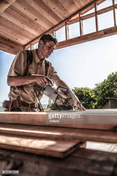 Home Building - Sawing