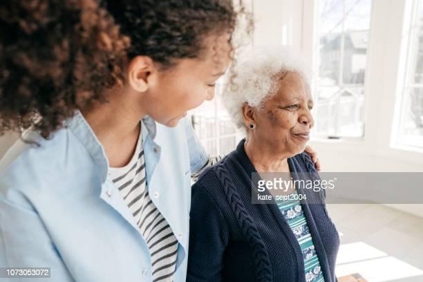 atendimento domiciliar para idosos - assistente social - fotografias e filmes do acervo