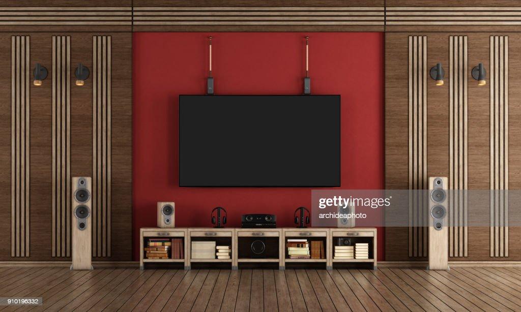 Home-Cinema im klassischen Stil : Stock-Foto