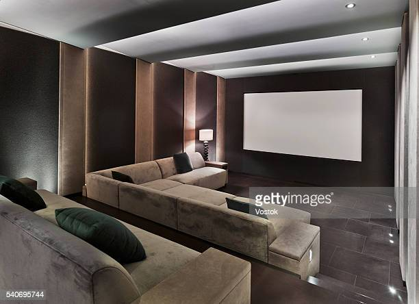 Home cinema in mansion