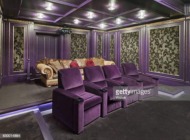 Home cinema system in a luxury private house