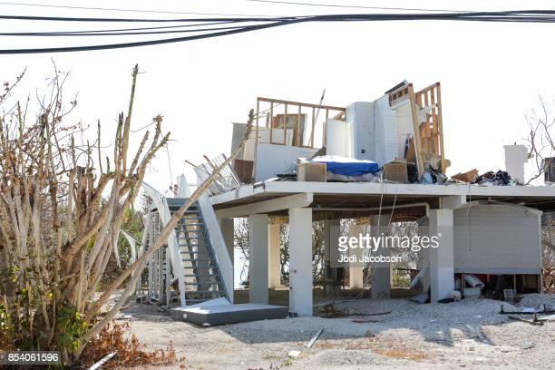 Haus völlig zerstört durch einen Hurrikan, der Ladestock in Florida Keys Taste