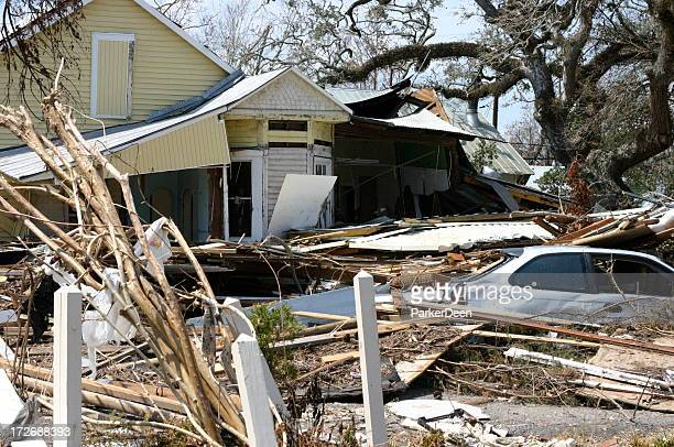 A home completely destroyed by Hurricane Katrina