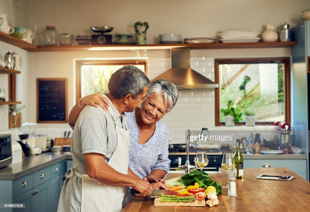 Home cooked happiness : Stock Photo