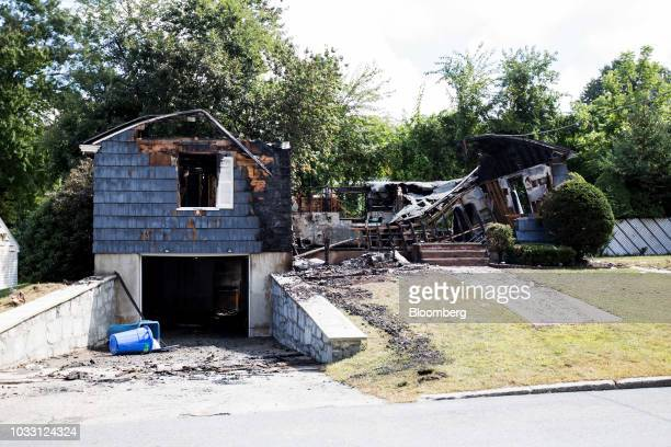 A home damaged by an explosion stands on Jefferson Street in Lawrence Massachusetts US on Friday Sept 14 2018 About 8000 people in three towns near...