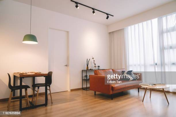 home deco living room and dining table - inexpensive stock photos and pictures