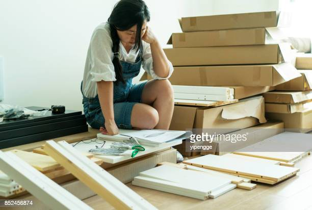 home decor and diy furniture - handbook stock photos and pictures
