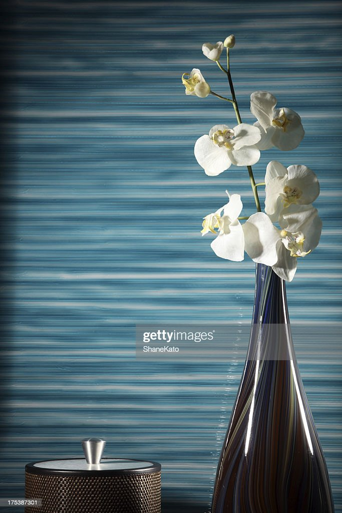 Home Decor Ice Bucket And Flower Vase With Faux Orchid High Res Stock Photo Getty Images