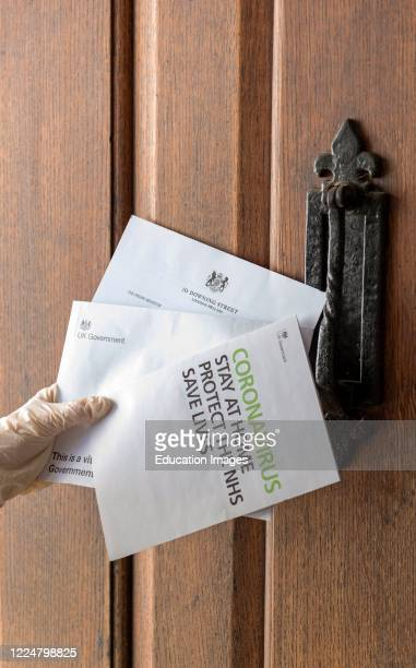 Home delivery of government communication on Coronavirus Hampshire UK