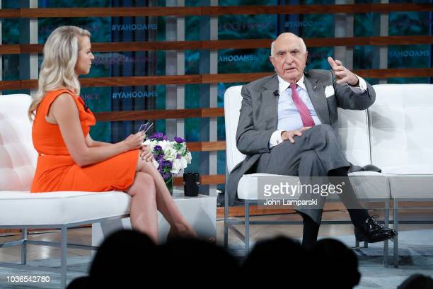 Home Depot cofunders Ken Langone interviewed by Julia La Roche speaks during the 2018 Yahoo Finance All Markets Summit at The Times Center on...